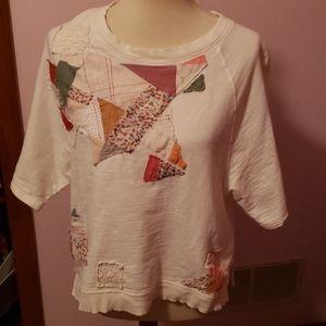 Postmark ANTHROPOLGIE size Small Quilt Sweatshirt